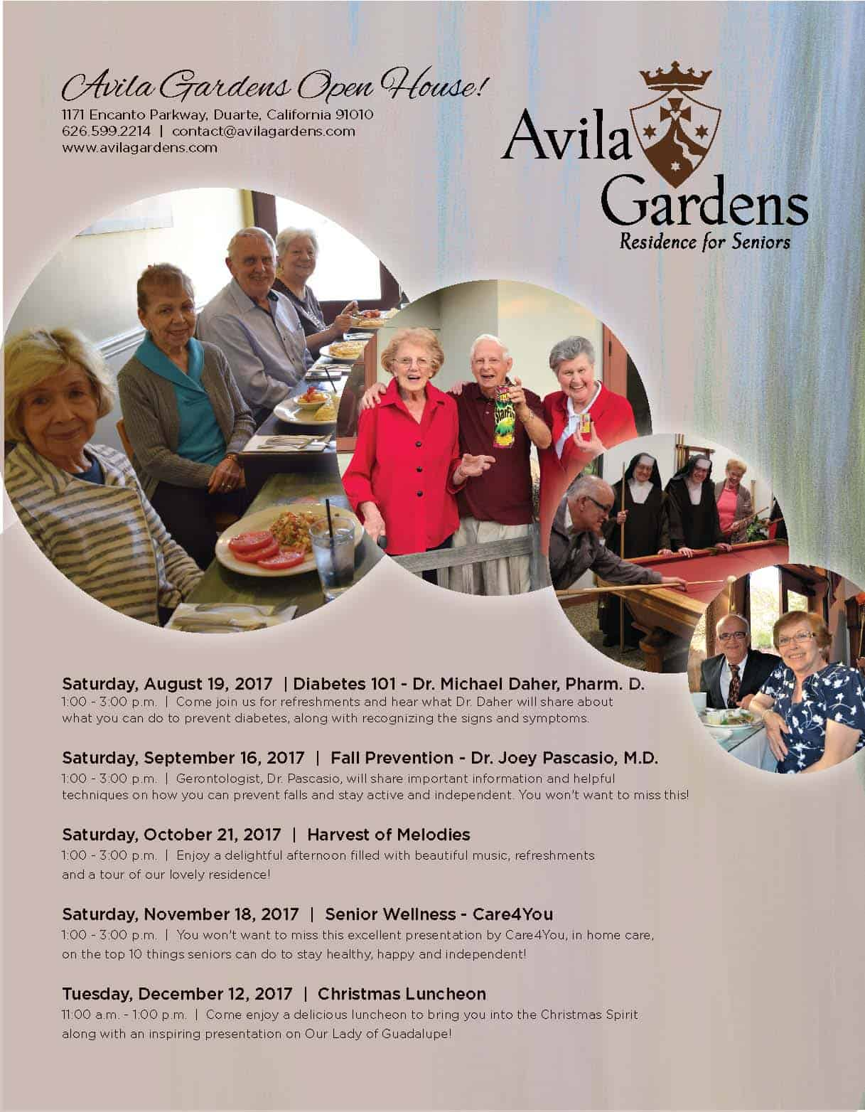 Avila Gardens Open House Flyer